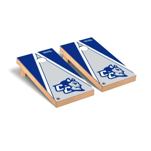 Central Connecticut State Blue Devils Triangle Wooden Cornhole Game Set