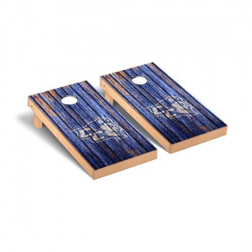 Central Connecticut State Blue Devils Weathered Cornhole Game Set