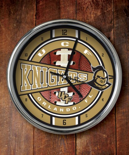 Central Florida Golden Knights Chrome Wall Clock