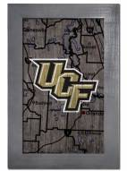 """Central Florida Knights 11"""" x 19"""" City Map Framed Sign"""