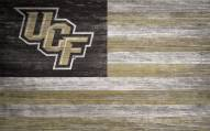 """Central Florida Knights 11"""" x 19"""" Distressed Flag Sign"""