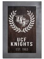 "Central Florida Knights 11"" x 19"" Laurel Wreath Framed Sign"