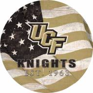 """Central Florida Knights 12"""" Team Color Flag Circle Sign"""