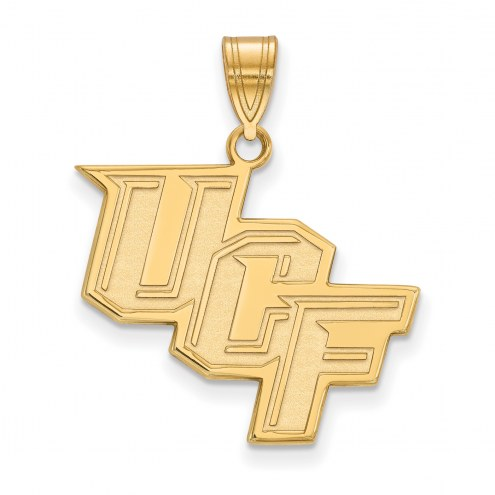 Central Florida Knights 14k Yellow Gold Large Pendant