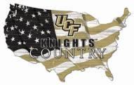 "Central Florida Knights 15"" USA Flag Cutout Sign"