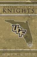 "Central Florida Knights 17"" x 26"" Coordinates Sign"