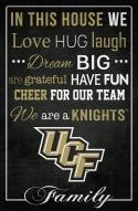 """Central Florida Knights 17"""" x 26"""" In This House Sign"""