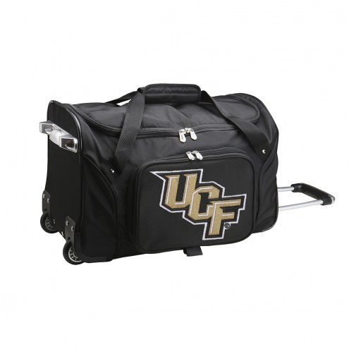 """Central Florida Knights 22"""" Rolling Duffle Bag"""