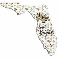 """Central Florida Knights 24"""" Floral State Sign"""
