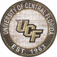 """Central Florida Knights 24"""" Heritage Logo Round Sign"""