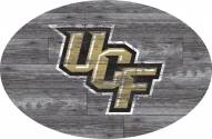 """Central Florida Knights 46"""" Distressed Wood Oval Sign"""