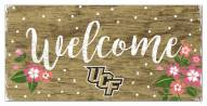 """Central Florida Knights 6"""" x 12"""" Floral Welcome Sign"""