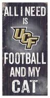 """Central Florida Knights 6"""" x 12"""" Football & My Cat Sign"""