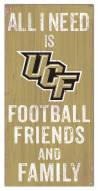 """Central Florida Knights 6"""" x 12"""" Friends & Family Sign"""