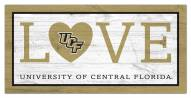 """Central Florida Knights 6"""" x 12"""" Love Sign"""