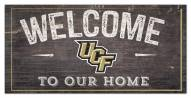 """Central Florida Knights 6"""" x 12"""" Welcome Sign"""
