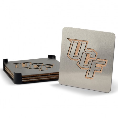 Central Florida Knights Boasters Stainless Steel Coasters - Set of 4