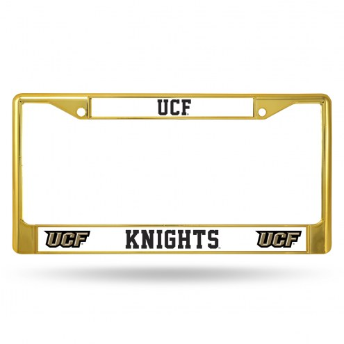Central Florida Knights Colored Chrome License Plate Frame