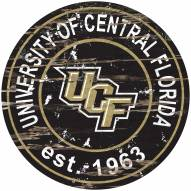 Central Florida Knights Distressed Round Sign