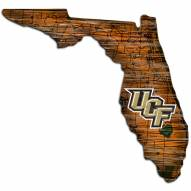 Central Florida Knights Distressed State with Logo Sign