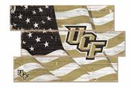 Central Florida Knights Flag 3 Plank Sign