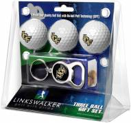Central Florida Knights Golf Ball Gift Pack with Key Chain