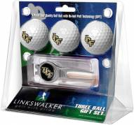 Central Florida Knights Golf Ball Gift Pack with Kool Tool