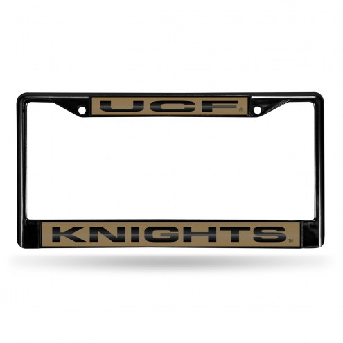 Central Florida Knights Laser Black License Plate Frame