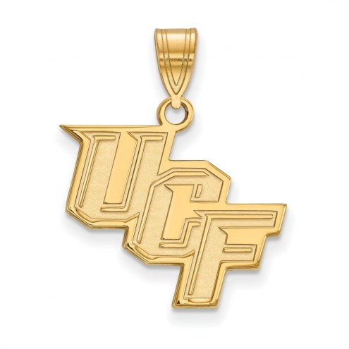 Central Florida Knights NCAA Sterling Silver Gold Plated Medium Pendant