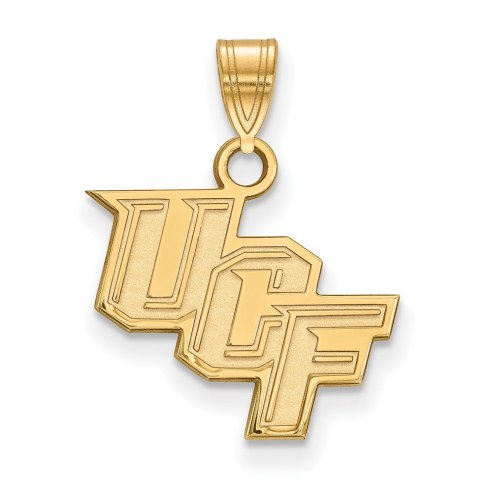 Central Florida Knights NCAA Sterling Silver Gold Plated Small Pendant