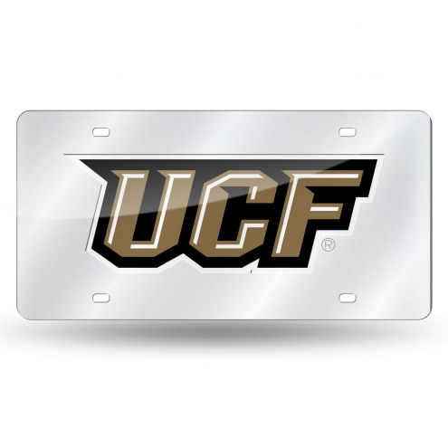 Central Florida Knights Silver Laser License Plate