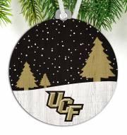 Central Florida Knights Snow Scene Ornament