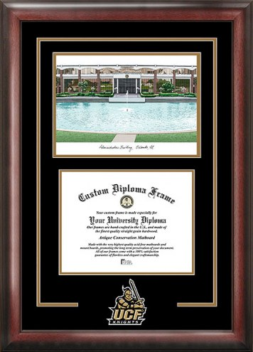 Central Florida Knights Spirit Diploma Frame with Campus Image