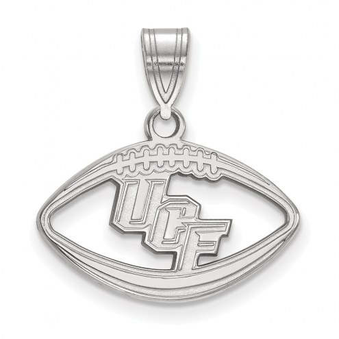 Central Florida Knights Sterling Silver Football Pendant