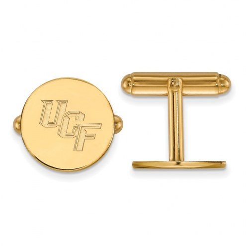 Central Florida Knights Sterling Silver Gold Plated Cuff Links