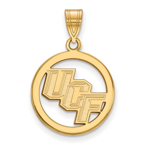 Central Florida Knights Sterling Silver Gold Plated Medium Pendant