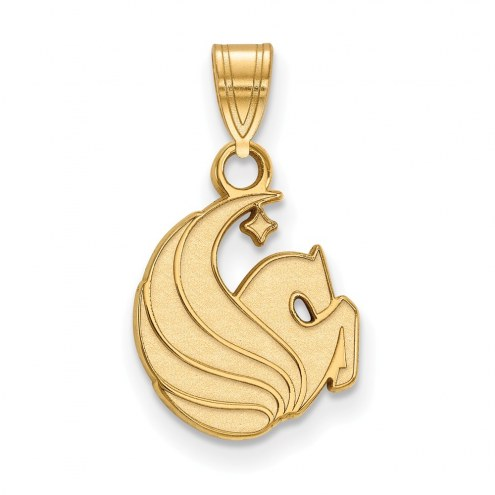 Central Florida Knights Sterling Silver Gold Plated Small Pendant