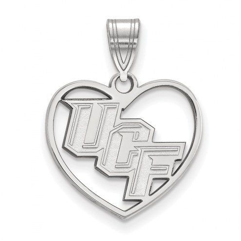Central Florida Knights Sterling Silver Heart Pendant
