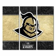 Central Florida Knights Triptych Double Border Canvas Wall Art