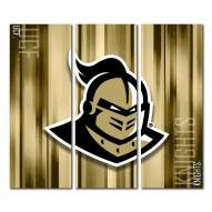Central Florida Knights Triptych Rush Canvas Wall Art