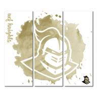 Central Florida Knights Triptych Watercolor Canvas Wall Art