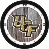 Central Florida Knights Weathered Wood Wall Clock