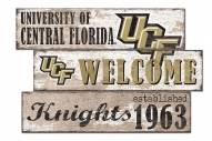 Central Florida Knights Welcome 3 Plank Sign