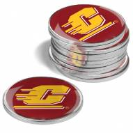 Central Michigan Chippewas 12-Pack Golf Ball Markers