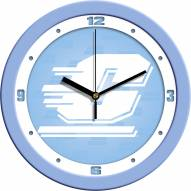 Central Michigan Chippewas Baby Blue Wall Clock