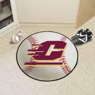 Central Michigan Chippewas Baseball Rug