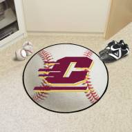 Central Michigan Chippewas Baseball Rug