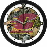 Central Michigan Chippewas Camo Wall Clock