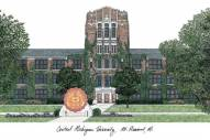 Central Michigan Chippewas Campus Images Lithograph