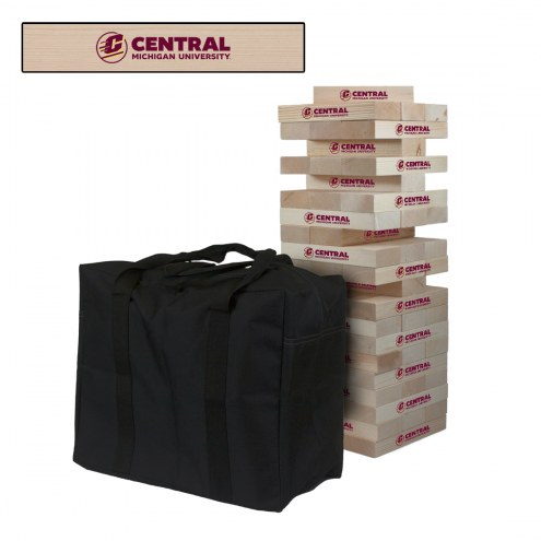 Central Michigan Chippewas Giant Wooden Tumble Tower Game